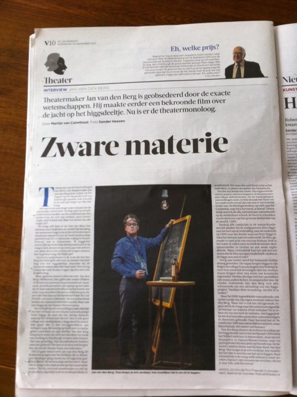 de Volkskrant, 20-11-2013 — door Martijn van Calmthout. Foto Sander Heezen.